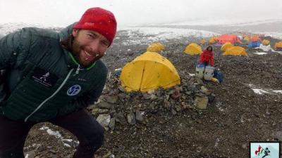 Életkép Suhajda Szilárd egy korábbi expedíciójáról, ekkor a K2-t igyekezett meghódítani. Fotó: Facebook
