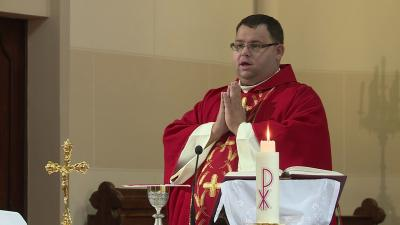 Pünkösdhétfői Istentisztelet a katolikus templomban