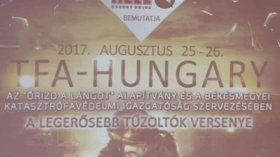 Javában szerveik az idei TFA Hungary - A Legerősebb Tűzoltók Versenyét Orosházán Fotó: Kugyelka Attila