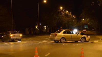 Békéscsabán a Luher és a Jókai utca sarkán történt balest. Fotó: police.hu