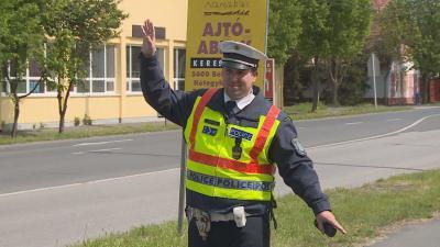 Rendőrségi ellenőrzés húsvétkor. Fotó: Tóth Áron