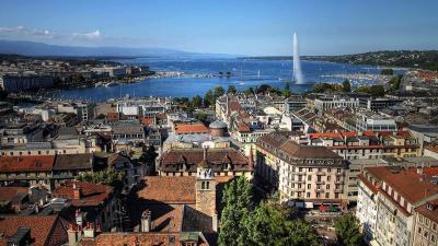 Genf látképe (fotó: icelandair.de)