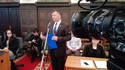 Csák Gyula vezérigazgató az aradi vízátvétel mellett az Alföldvíz Zrt.-t érintő problémákról is beszélt. Fotó: Tóth Áron