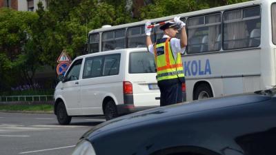 Karos forgalomirányító verseny Békéscsabán (fotó: police.hu)