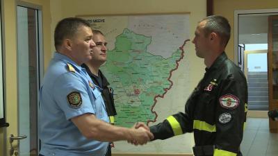 Tóth Tibor dandártábornok, megyei igazgató köszöntötte a gyakorlat résztvevőit (Fotó: Kovács Dénes)