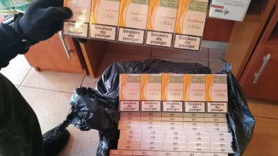 A lefoglalt dohánytermékek. Fotó:  NAV Békés Megyei Adó- és Vámigazgatósága