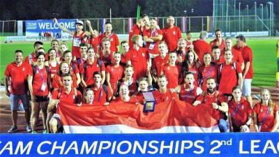 A győztes magyar csapat Tel-Avivban (Fotó: Magyar Atlétikai Szövetség)