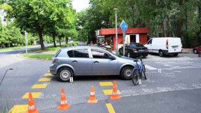 Baleset. Fotó: police.hu