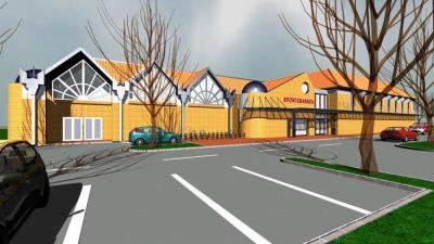 Ilyen lesz a vésztői sportcsarnok (Fotó: Vésztő város önkormányzata)