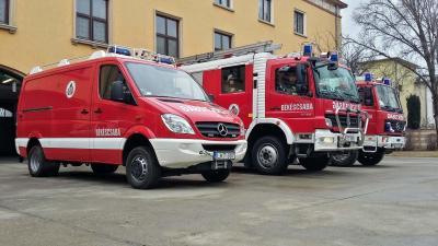 Békéscsabai tűzoltók. Archív fotó: V.D.