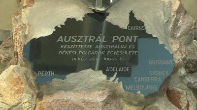 Felavatták az első Ausztrál Pontot Békésen. Fotó: Tóth Áron