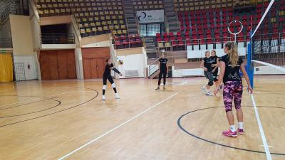 Milly Bezarevic nagy lendülettel dolgozott első edzésén (Fotó: Kovács Dénes)