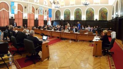 Szeptemberi ülését tartja Békéscsaba képviselő-testülete a városháza dísztermében. Fotó: Kovács Dénes