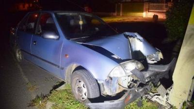 A szeghalmi baleset. Fotó: police.hu
