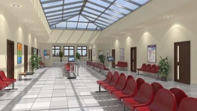 Az egészségház várótermének látványterve