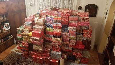 Múlt évben 702 doboznyi ajándék gyűlt össze és jutott el a gyerekekhez
