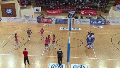 A kék-fehérben pályára lépő csabaiak biztosan győztek (Fotó: Ujházi György)