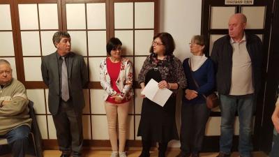 Nyíri Judit gobelin kiállítását december 4-ig láthatják az érdeklődők a Lencsési Közösségi Házban. Fotó: Kovács Dénes