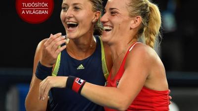 Babos (jobbra) először ünnepelhet felnőtt Grand Slam Torna-győzelmet.(Fotó: AFP)