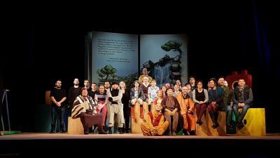Megérkezett Békéscsabára sokak kedvence a Csekélyértelmű Medvebocs - szerdán lesz a Micimackó premierje a Jókai színházban. Fotó: Kovács Dénes