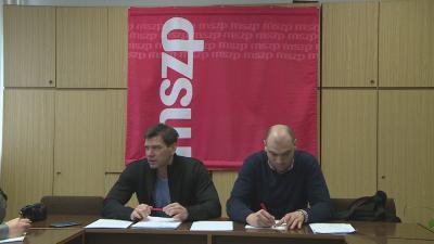 Miklós Attila és Fülöp Csaba, az MSZP önkormányzati képviselői. Archív fotó: Tóth Áron