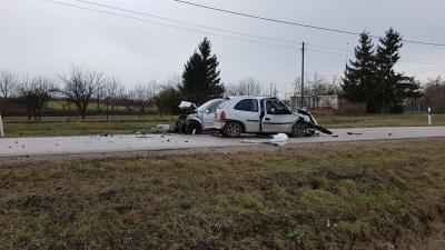 A 2018 februárjában történt baleset helyszínén készült fotó Forrás: behir.hu
