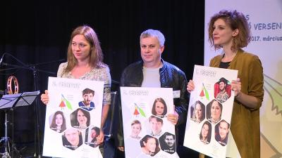 2017-ben Sebők Bori, Pozsgai Zsolt és Tóth Réka Ágnes (balról)) vállalkozott íróként a kihívásra (Fotó: Kovács Dénes)