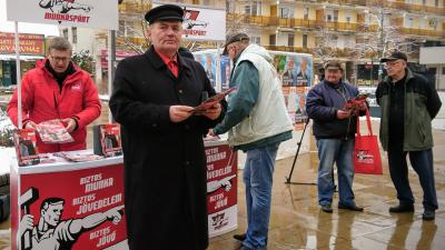 Thürmer Gyula, a Munkáspárt elnöke Békéscsabán, 2018.03.20-án. Fotó: V.D.