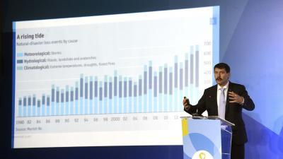Áder János köztársasági elnök előadása a Víz Világfórumon Brazíliavárosban (MTI fotó: Bruzák Noémi)