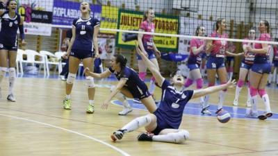 A kék mezben játszó hazaiak megnehezítették a címvédő dolgát (Fotó: hunvolley.hu)