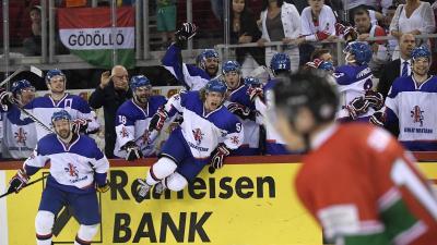 A brit játékosok ünnepelhettek a drámai meccs végén (MTI Fotó: Kovács Tamás)