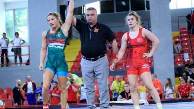 Az újrázó Európa-bajnok Szél Anna (Fotó: United World Wrestling)