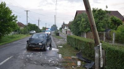 Baleset 2018.május 19-én. Fotó: police.hu