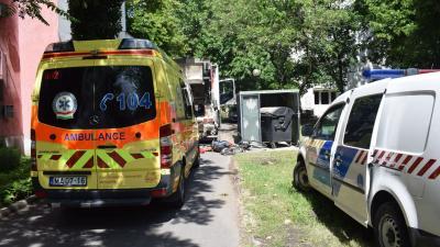 Baleset Békéscsabán, 2018-05.17-én. Fotó: police.hu
