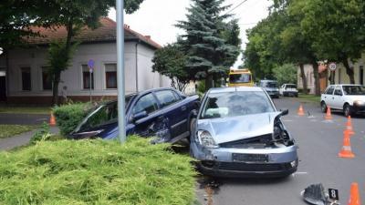 Baleset 2018.06.23.-án. Fotó: police.hu