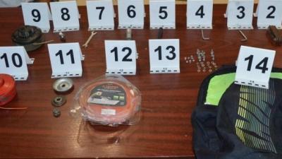 Ezeket a tárgyakat is ellopta a 18 éves tolvaj. Forrás: police.hu