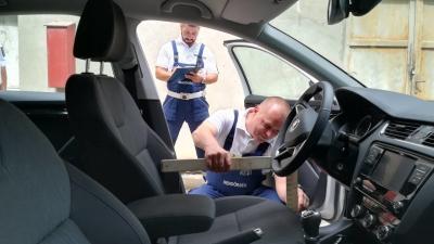 Orosházán rendezték meg a baleset-helyszínelők versenyének Békés megyei döntőjét. Fotó forrás: police.hu