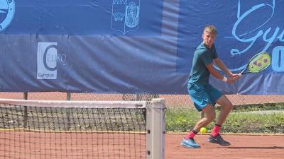 A Gyula Open tavalyi döntőjében magyar-osztrák csatát rendeztek: Valkusz Máté Lenny Hampel ellen mérkőzött (Fotó: Barna Tamás)
