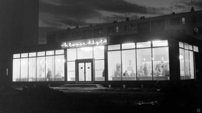 A Fehér Galamb étterem (forrás: FORTEPAN/Bauer Sándor)