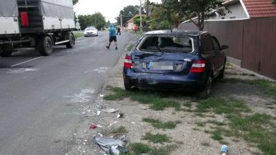 Baleset történt Gyomaendrőd külterületén július 18-án (fotó: police.hu)