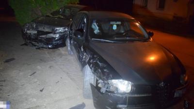 A békéscsabai, Wagner utcai baleset (fotó: police.hu)