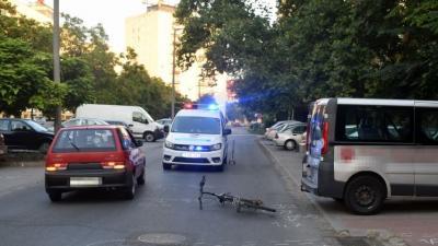 Kerékpáros baleset Orosházán. Forrás: police.hu