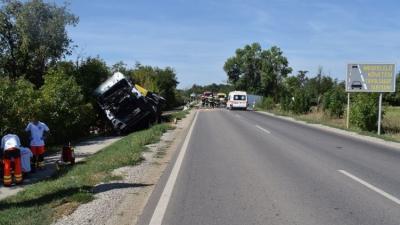 A Kondoros közelében történt baleset (fotó: police.hu)