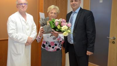 dr. Hudák János, dr. Kovács Irén és dr. Duray Gergő. Fotó: Melega Krisztián/Orosházi Kórház