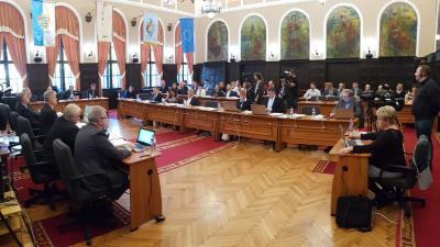 Októberi ülését tartja a békéscsabai képviselőtestület 2018.10.18-án. Fotó: Kovács Dénes