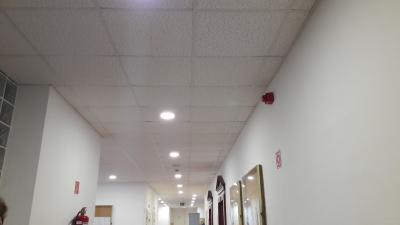 A Battonyai Járásbíróság LED-világítása. Fotó: Gyulai Törvényszék