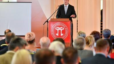 Dukai Miklós, a Belügymisztérium önkormányzati helyettes államtitkára egy korábbi rendezvényen. Fotó: korkep.sk
