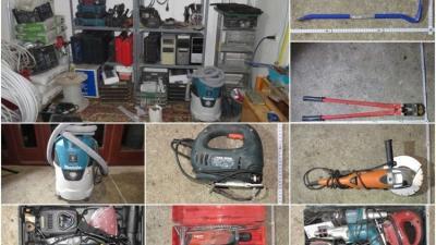 Többek között ezeket a tárgyakat vitte el a békéscsabai sorozatbetörő. Fotó: police.hu