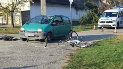 Baleset Füzesgyarmaton. Fotó: police.hu