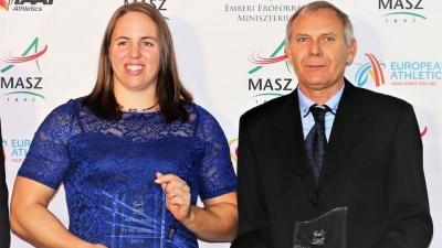 Márton Anita ötödször lett az Év Női Atlétája, edzője, id. Eperjesi László pedig edzői különdíjat kapott (fotó: MASZ)